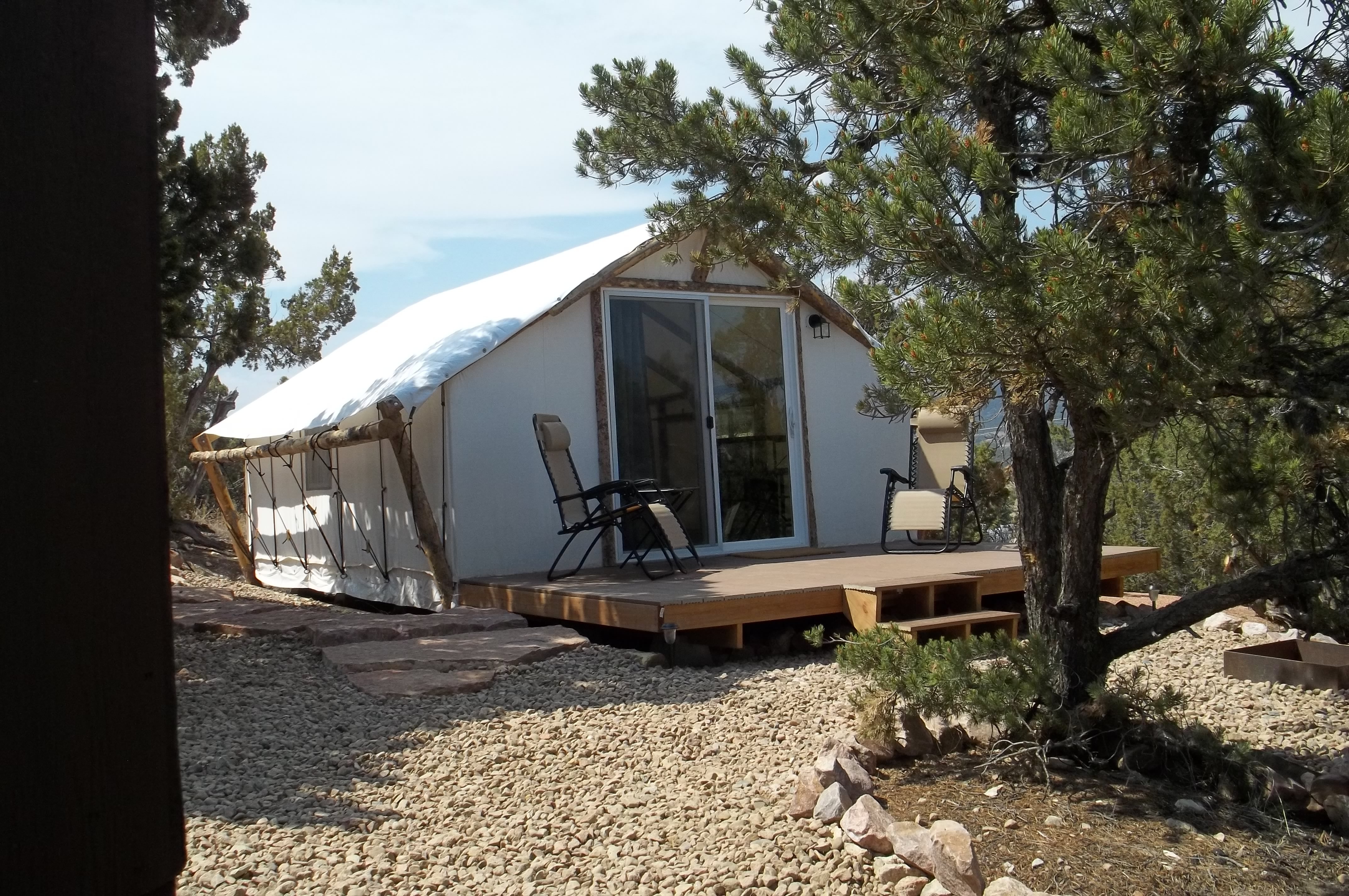 Glamping Tent Outside view