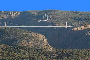 View of Royal Gorge Bridge from the Campground