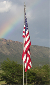 Our United States Flag at the Royal Gorge Campground